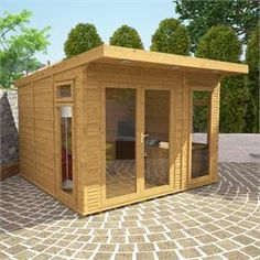 This 3m x 3m Waltons Insulated Garden Room is perfect all year round! #gardens #gardenrooms #logcabin