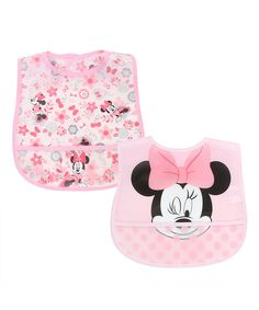Take a look at this Minnie Mouse Pink Bib - Set of Two today!