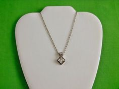 Vintage Sterling and Cubic Zirconia Pendant by LaylaBaylaJewelry