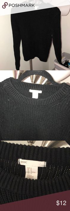 1438efdcc Black H M sweater Black H M sweater H M Sweaters Crew   Scoop Necks Black  Sweaters