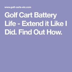 yamaha g2 gas golf cart wiring diagram silverado trailer ezgo pds battery life extend it like i did find out how