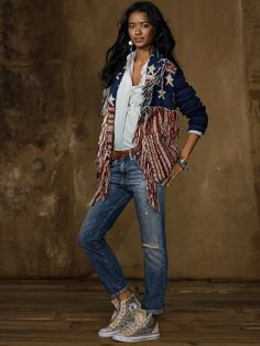 American Flag Cardigan | Denim & Supply RalphLauren.com