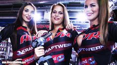 "KRAFTWERK quality tools with their sponsored race car at the Auto Zürich Car Show 2013. The Kraftwerk Girls did a ""real"" pit stop with changing a wheel at the race car of the Zemp Racing Team. http://motorsandgirls.com/2013/11/16/girls-pit-stop-change-wheel-race-car-kraftwerk-tools/"
