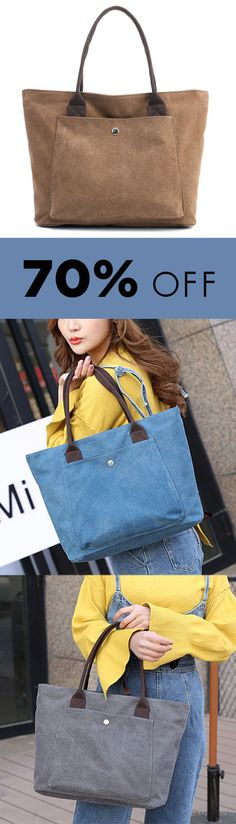 Vintage Simple Wild Tote Bags High Capacity Handbags For Women. #bags #totebags