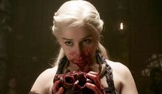 Seven Hells! Game of Thrones' Most Shocking Moments : Daenerys eats a raw horse heart
