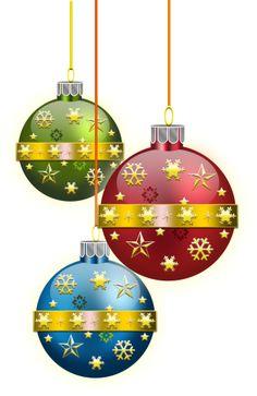 CHRISTMAS ORNAMENTS CLIP ART
