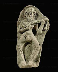 Nude Statue of an elamite musicion , 2nd millenium Bc