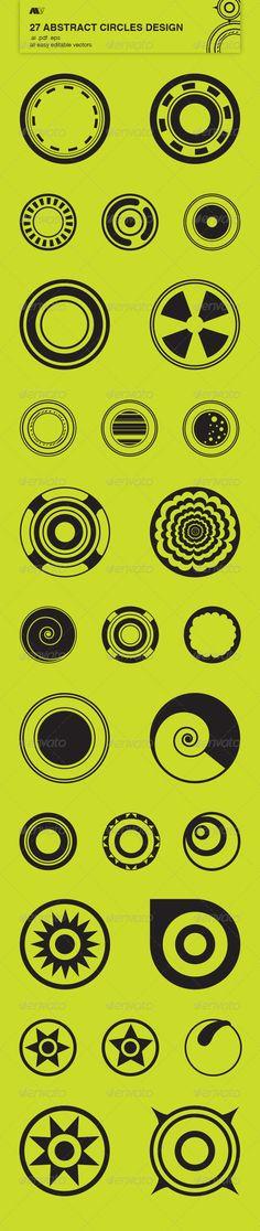 27 Abstract Circles