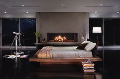 Santos Platform Bed made from reclaimed Brazilian Peroba Rosa wood