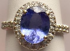 $479 Tanzanite Lady's Stone & Diamond Ring