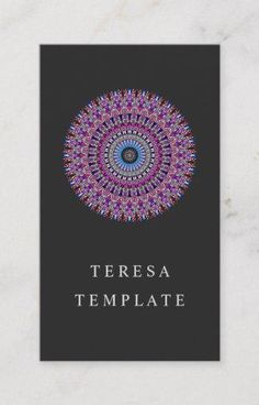 Colorful Magic Mandala Business Card for $23.15 #template #print #BusinessCard #CardTemplates #beauty #BusinessCardTemplate #BusinessCards #PrintTemplate #design #GraphicDesign #CardDesign #graphics #Zazzle #BeautyBusinessCard
