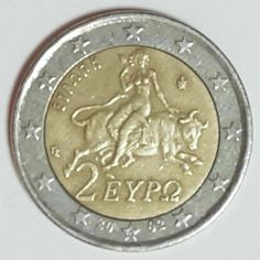 Very Rare 2 Euro Coin Faulty Error Miss Stamping With *S* On Star Greece 2002 Euro Coins, Banknote, Stamping, Greece, Stars, Ebay, Greece Country, Stamps, Sterne