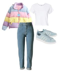 """Untitled #126"" by katerinavra on Polyvore featuring RE/DONE and adidas Originals"