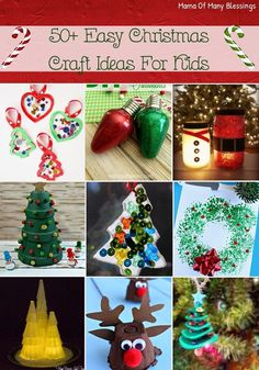 With this list of over 50 different Christmas craft ideas for kids there is something on this list for everyone. Everything from simple to harder.