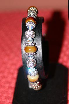 Lampwork Bracelet....cool coloring