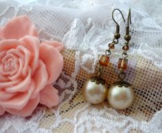 Vintage Style Bridal Earrings #handmade #wedding #bride #earrings