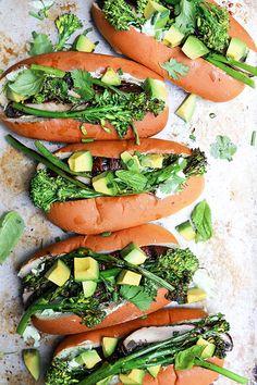 Grilled Portobello Mushroom and Broccolini Veggie Dogs | www.floatingkitchen.net
