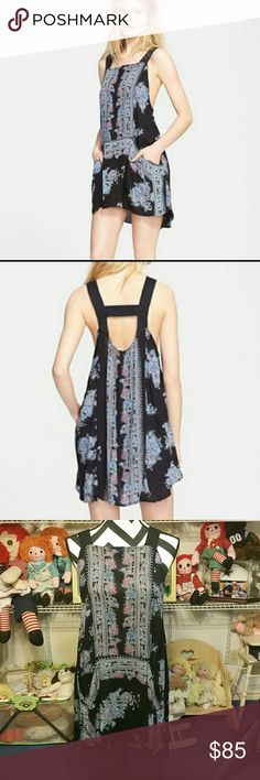 Free people paradise song printed tunic sm nwot Free people  Paradise song printed tunic  Size small  Nwot never worn free people Tops Tunics
