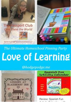 Love of Learning at The Ultimate Homeschool Pinning Party