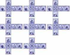 Cubes bleus enfants cirque chiffres et lettres création Pascale Appiani