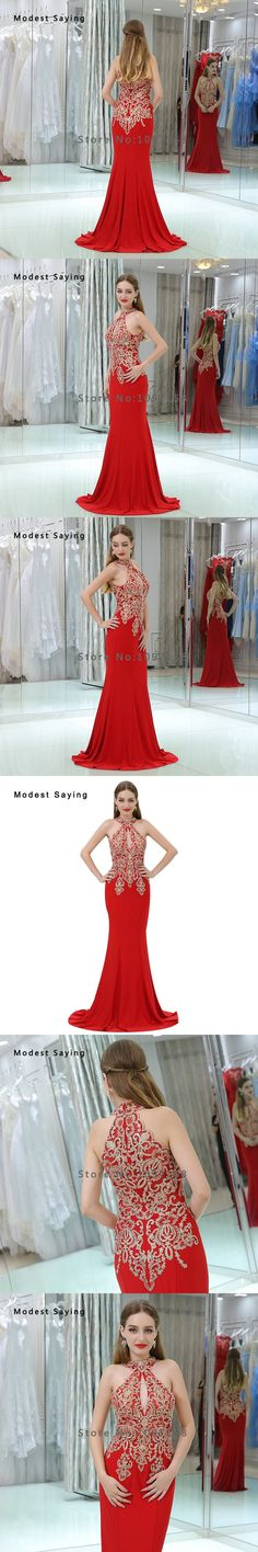 2018 Christmas Red Lace Evening Dresses with Beading Sexy See Through Top Evening Gowns Mermaid Party Prom Gowns robe de soiree