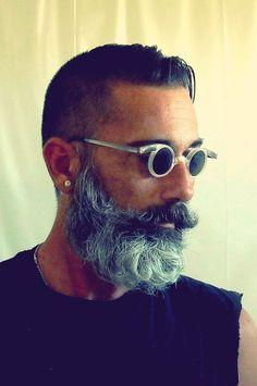 Man with Beard & Round Sunglasses