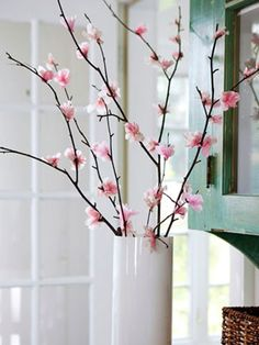 Branch Out:  Cherry blossoms bloom only briefly, but these tissue paper versions can last all spring.