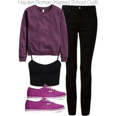 Hayden Romero Inspired School Outfit by staystronng on Polyvore featuring H&M, NLY Trend, Alexander Wang, Vans, school, autumn, tw and HaydenRomero