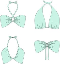 "Patron de couture gratuit : Bikini convertible ""Monroe"""