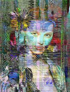 Portrait, Mixed Media, Digital Art,  Metamorphose VI, Susanne Mutert