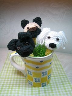 Puppy Pencil Toppers Crochet Pattern PDF File by mutts on Etsy