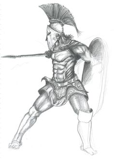 realistic Warrior drawings | Spartan Warrior Drawing