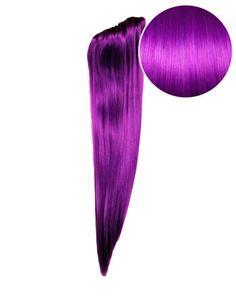 """Faux Clip Ponytail 180g 24"""" Electric Purple (51P)"""