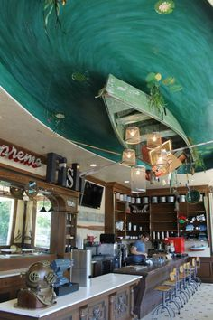 """Puckett's Boat House's <a class=""""pintag searchlink"""" data-query=""""%23Baitshop"""" data-type=""""hashtag"""" href=""""/search/?q=%23Baitshop&rs=hashtag"""" rel=""""nofollow"""" title=""""#Baitshop search Pinterest"""">#Baitshop</a> ... I love the interior here."""