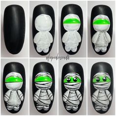 Luxury Nail Art Trends Ideas You Will Love Now Reklame// 𝐌𝐨𝐧𝐬𝐭𝐞𝐫 𝐦𝐮𝐦𝐦𝐲 👻 Halloween Nail Designs, Halloween Nail Art, Fall Halloween, Holiday Nails, Christmas Nails, 80s Nails, Luxury Nails, Pretty Nail Art, Nagel Gel