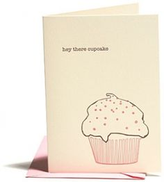 Greeting Cards - Everyday - Love & The Like - Cupcake - Snow & Graham: Letterpress Stationery, Invitations, Greeting Cards and Calendars