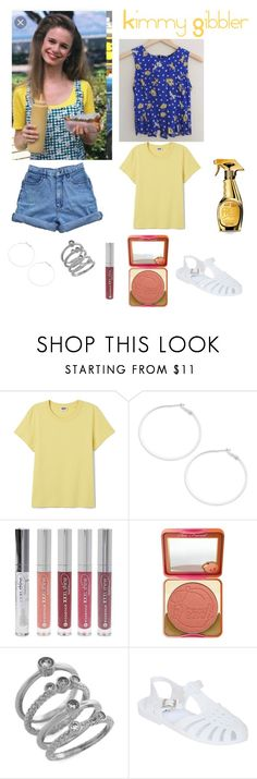 """""""Full House Look 3"""" by noellemary ❤ liked on Polyvore featuring Design Lab, Forever 21, Too Faced Cosmetics, Cole Haan, Pilot and Moschino"""
