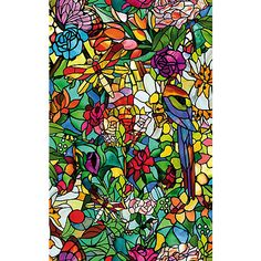 DC Fix Spring Chapel Window Film Set of 2 at Lowe's. Bring the beauty of a stained glass window into your own home with the Spring Chapel Window Film. This colorful self-adhesive design filters light and Windows Wallpaper, Of Wallpaper, Bauhaus, Dc Fix, Stained Glass Window Film, Privacy Glass, Window Films, Curtains With Blinds, Bead Curtains