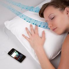 Plug your iPod in...and the sound comes through your pillow!!!!!!!!!!!!!!