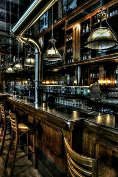 Come check out our top 50 industrial style home bar ideas. Take a look at these top 50 and hopefully it will help you achieve the Home bar of your dreams. Cafe Bar, Pub Bar, Beer Bar, Pub Design, House Design, Brewery Design, Pub Interior, Bar Interior Design, Bar Lounge