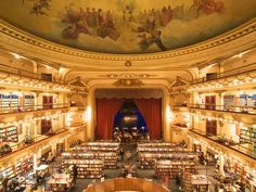 Old movie theatre turned bookstore in Buenos Aires. Amazing!