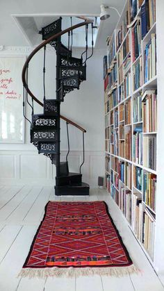 This is really cute! Love the bookcase next to it