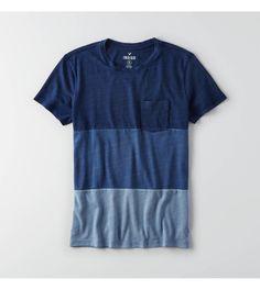 Indigo AEO Indigo Graphic Crew T-Shirt