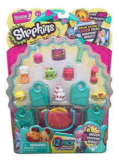 Shopkins Season 3, Set of 6 12-packs, Styles as Pictured Shopkins Season 3, Set of 6 12-packs, Styles as Pictured The Shopkins 12-Pack makes it easy for girls to stock up on their favorite characters! Each 12-Pack featuring ten characters plus two hidden characters, four shopping bags, one shopping basket and a collector's guide, this pack gives girls everything they need to complete their Shopkins world. Girls should be on the lookout for Ultra Rare or Limited Edition characters. S..