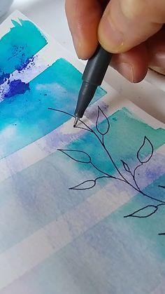 Bullet Journal Lettering Ideas, Bullet Journal Books, Bullet Journal Ideas Pages, Bullet Journal Inspiration, Art Journal Pages, Art Journals, Easy Art, Simple Art, Bullet Journal Watercolour