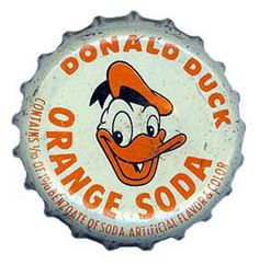 Donald Duck. Disney, Orange soda lid