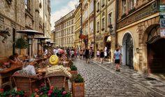 Prague - Street Scene I by pingallery.deviantart.com on @DeviantArt