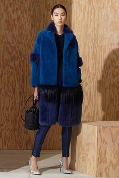 Bottega Veneta - Pre Autumn/Winter 2016-17 | blue fur, style, fashion, collection