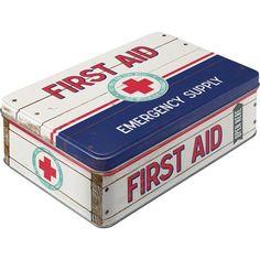 Nostalgic-Art - Nostalgic Pharmacy First Aid II - Vorratsdose Flach - 23x16x7cm (2,5l)