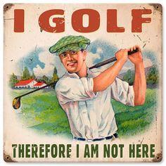 I Golf Vintage Metal Sign